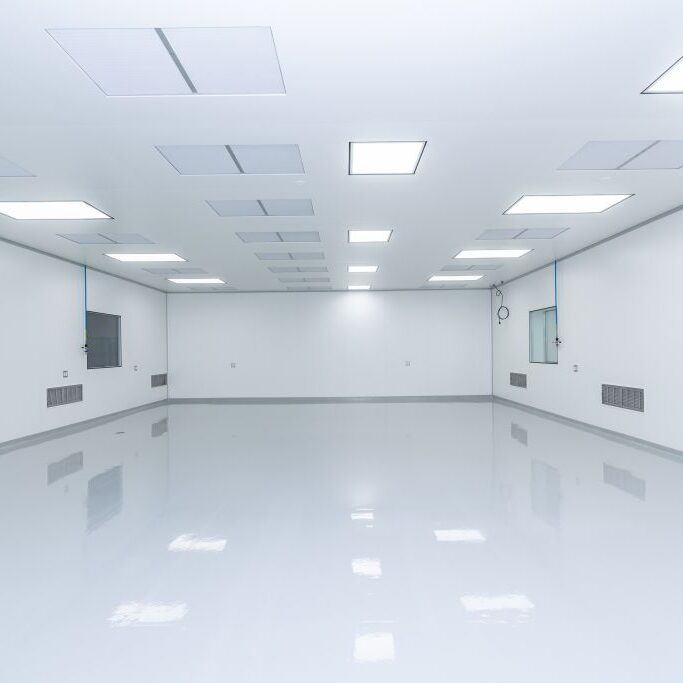 room with modular cleanroom walls
